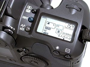 Camera Controls & Top LCD Screen