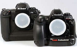 Compared with a Nikon D1X